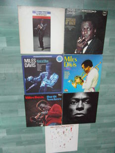 Miles Davis 6 lp records and 1,  12 inch record