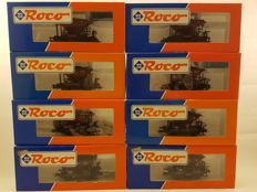 Roco H0 - 46130/46129/46128 - 8x crushed stone carriages of the DRG