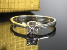 1970 diamond solitaire ring gold ring