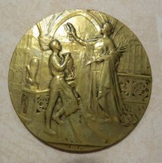 Belgium - Reward medal 1910 'World exhibition in Brussels' - bronze