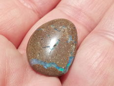 Fine Electric  colors - Untreated 100% Natural Australian Boulder Opal  Cabochon  - 10.34 Ct  - 21.6x16.8x4 mm