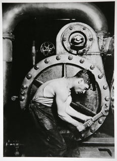 Lewis Wickes Hine (1872-1935) -  Power house mechanic, c.1920