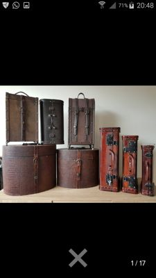Collection of 8 beautiful storage boxes and trunks