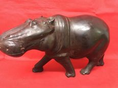 Hippopotamus made of ebony wood