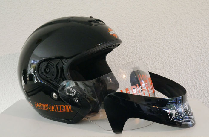 casque harley davidson original visage ouvert taille xs catawiki. Black Bedroom Furniture Sets. Home Design Ideas