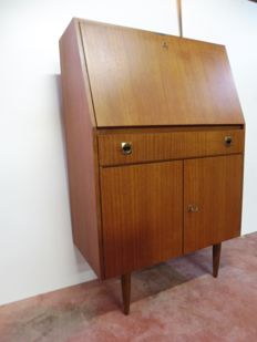 Manufacturer unknown - vintage,  teak secretary desk
