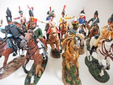 Cavalry of the Napoleonic Wars: Lot with twelve hand-painted figures on horseback - DelPrado, scale 1:30