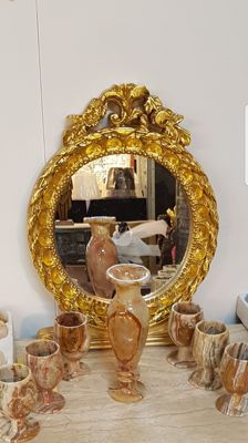 France, three hand painted mirrors
