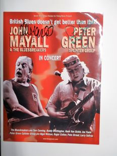 John Mayall & Peter Green tour programme signed by both