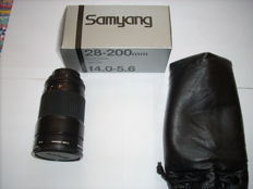 Samyang 4.0-5.6 28-200 mm zoom objective