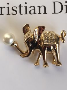 Christian Dior - Vintage Elephant Brooch / Pin.