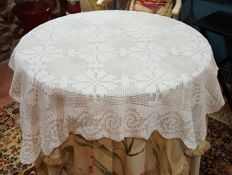 Handmade crochet square tablecloth - 105 x 105 cm