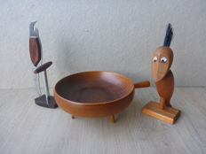 Paavo Asikainen wooden bowl and Scandinavian bottle openers