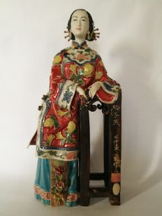 Chinese porcelain statue Cixi - China - 2nd half 20th century