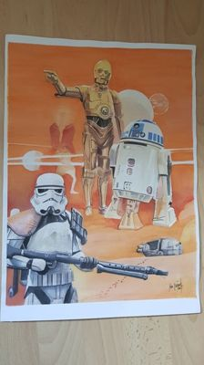 John Heijink - Star Wars - Original Drawing - (2017)