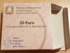 Italy - 20 Euro 2010 Europe of the Arts - E. Mendelsohn - Gold