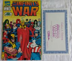 Infinity War Ron Lim Signed Issue # 1 Comic with COA 1992 NM/M Marvel Comics
