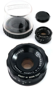 Nikon El Nikkor 50mm f4 enlarging darkroom lens for 24x36 enlargers