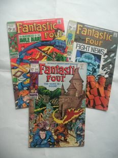 Marvel Comics : Fantastic Four - Issues #84, 89 & 92 - Silver Age - 3x sc  (1969)