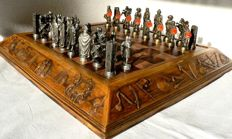 "Bronze chess ""Arab Warriors vs Christian Troops"""