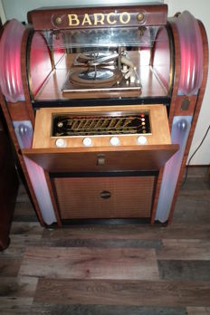 Barco Radio Record Player predecessor of the jukebox with nice lighting, complete
