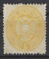 Austria - kreuzer light green - no. 24 a
