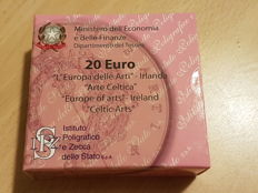Italy - 20 Euro 2007 Europe of the Arts - Ireland - Gold