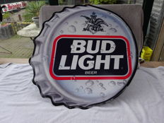 Tin advertising sign - Bud Light Beer - 1991