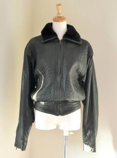 Gianni Versace - 1980s leather jacket