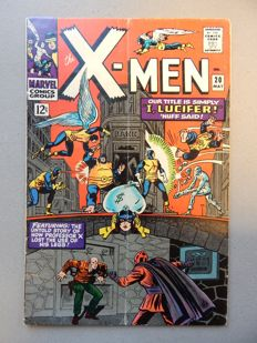 Marvel Comics - X-Men #20  - With Origin of Professor X (Charles Xavier)   - 1x sc - (1966)