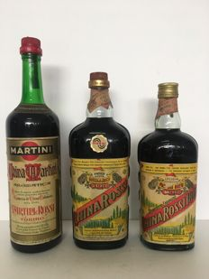 1 x China Rossi 1868  Esclusiva Preparazione Asiago (bottled 1967)   75 cl + 1 x China Rossi Antica Ricetta Asiago Bottling (bottled 1969)  1 LT + 1 x  Martini e Rossi China Martini Aromatica 100 cl (bottled 1960s) - ( 3 Bottles