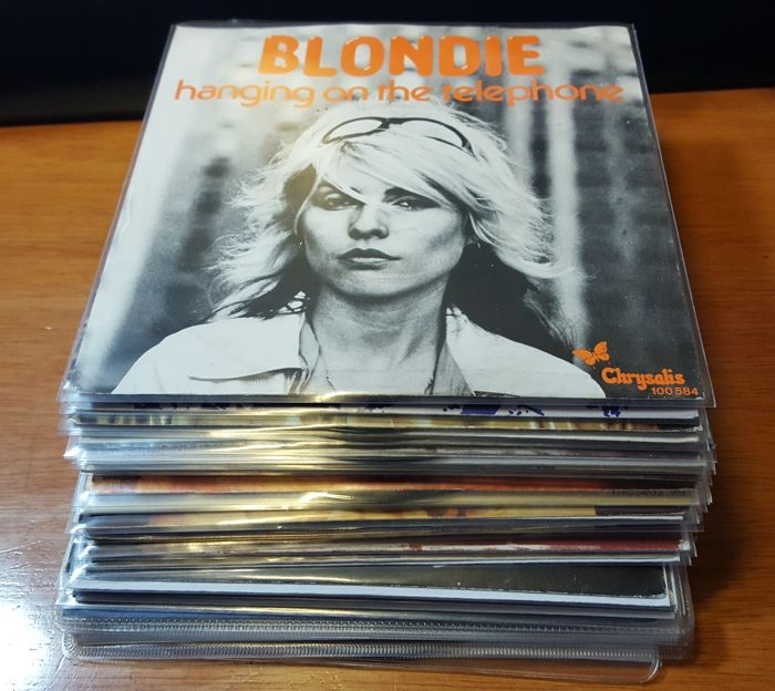 Blondie / Debbie Harry: beautiful collection of 28 different 45's with picture sleeve (some promos, two picture discs)