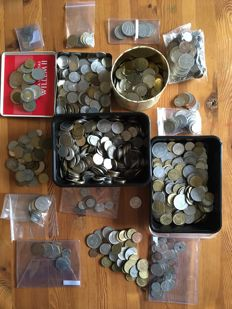 Europe - after 1945, approx. 7.2 kg of coins from 23 countries