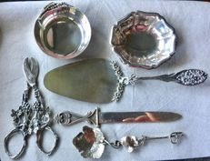 Lot of small objects in Italian silver, all marked