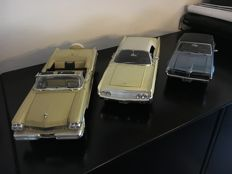 Sun Star / Road Signature - Scale 1/18 - Lot of 3 american cars: Mercury & Lincoln