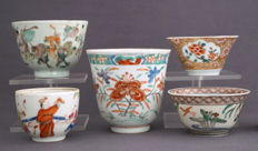 Collection of 5 extraordinary bowls - China - 18th and 19th century