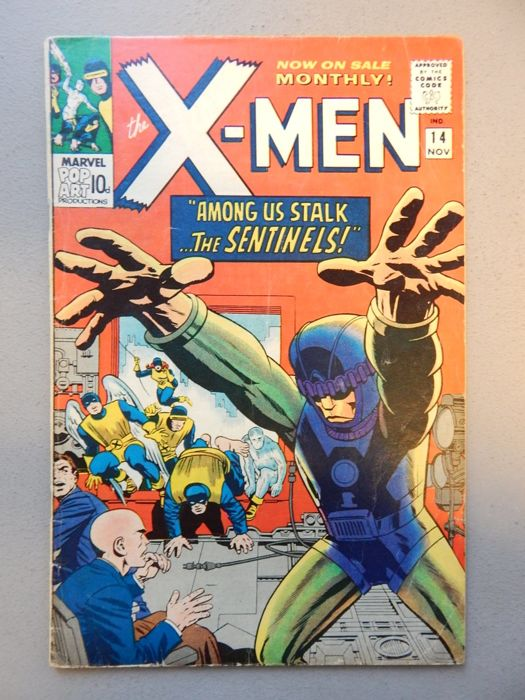 Marvel Comics - X-Men #14 - 1st appearance of Sentinels + 1st appearance of Dr. Bolivar Trask - 1x sc - (1965)