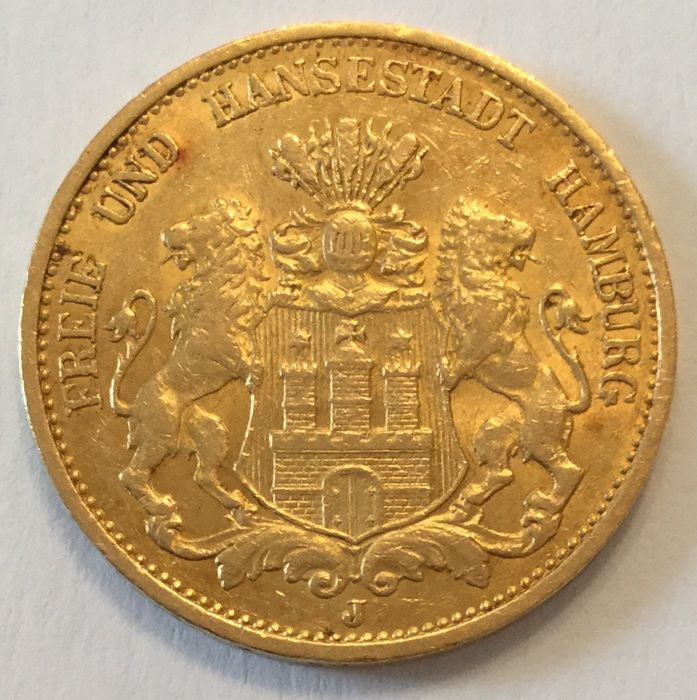 Germany (Free and Hanseatic City of Hamburg) - 20 Mark 1899 J - gold