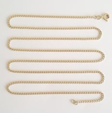 18 kt Yellow gold necklace with curb links - Length: 64 cm