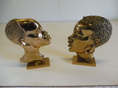 African women profile heads