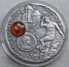 Niue - dollar 2008 'Amber Route Gdansk' - silver