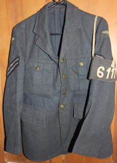 British WWII RAF Jacket with a rare POW armband