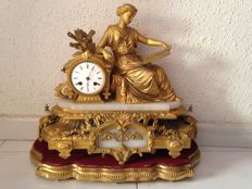 J. Marti, France table clock - circa 1900