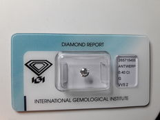 Natural Diamant  0.40 ct   G / VVS 2   Ex  VG VG