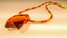 100% Genuine Baltic Amber necklace, length 56 cm, 29 grams