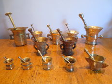 Collection of mortars, Europe, 20th century