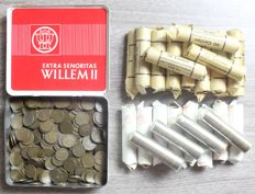 Netherlands - 1 cent 1948 Wilhelmina (300 pieces) and 1950/1980 Juliana (30 coin wrappers 1500 pieces)