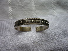 Antique bracelet around the year 1910, rarity, real silver,