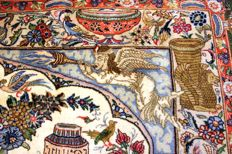 KASHMAR WITH ILLUSTRATIONS, Iran - 240 x 200 cm - top condition