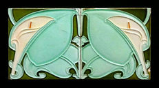 Alfred Meakin - Two Art Nouveau Tiles with continious pattern